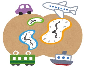 時間と交通のイメージ