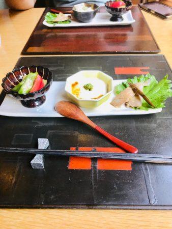 昼膳の三種お料理
