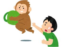 イタズラをする猿のイラスト