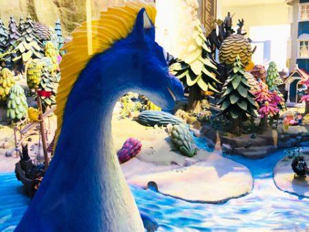 竜とジオラマの写真画像