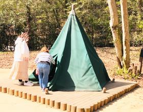 スナフキンのテントの写真