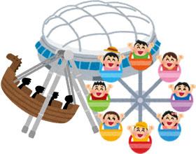 東京ドームアトラクションのイラスト