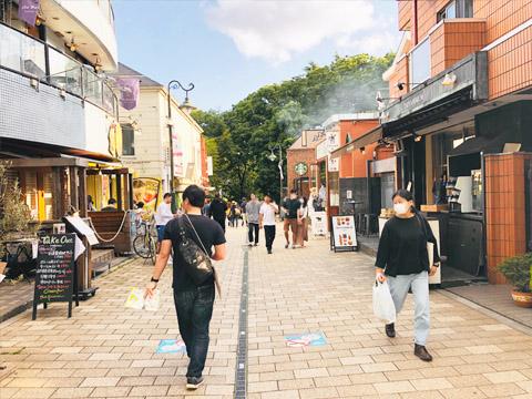 吉祥寺の街並みの写真
