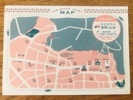 山代温泉のエリア地図