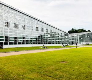 植物公園の温室外観の写真