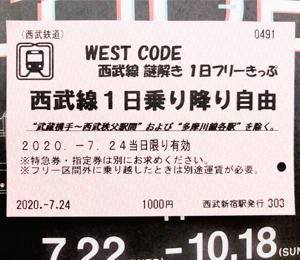 1日乗車券の写真