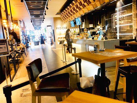 併設のカフェ「フロカフェ」の写真