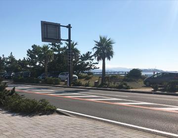 館山の海岸線沿いの写真