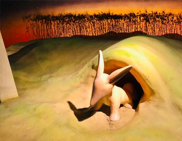 星の王子さまと導きのダイス「砂漠のキツネのオブジェ」の写真
