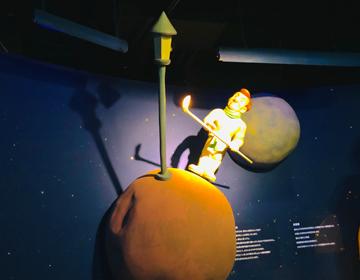 星の王子さまと導きのダイス「外灯の星のオブジェ」の写真
