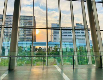 人類滅亡からの脱出「日本科学未来館から見たお台場の夕焼け」の写真