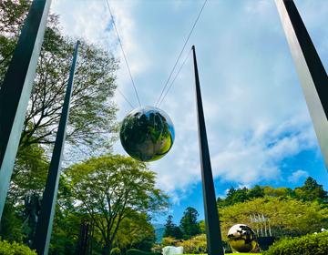 彫刻謎「球体オブジェ」の写真
